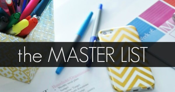 How to make master list for making tax digital